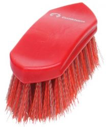 Gymkhana Plastic Back Dandy Brush Junior Red & Grey