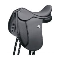 Bates Pony Long Cair Dressage Saddle Black