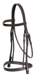 Academy Leather Flat Show Bridle Brown