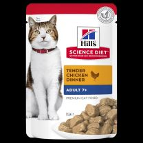 Hills Cat Wet Pouch Mature 7+ Chicken 85gm Box of 12-