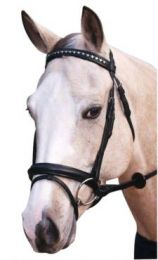 Stars and Stones Hanoverian Bridle Black