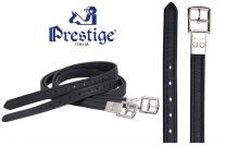 Prestige Non Stretch Stirrup Leathers Black