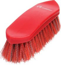 Gymkhana Plastic Back Dandy Brush Small Red & Grey