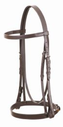 Eurohunter Leather Flat Bridle Black