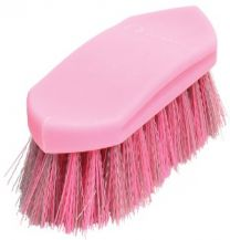 Gymkhana Plastic Back Dandy Brush Junior Pink & Grey