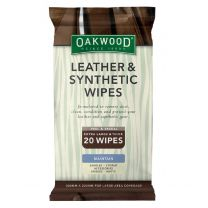 Oakwood Leather Wipes Packet of 20