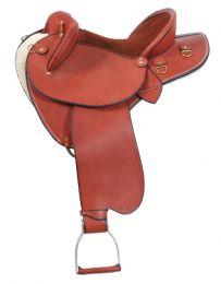 Ammo Leather Half Breed Saddle Chestnut