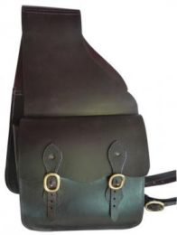 Saddle Bag Leather Double Brown