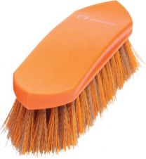 Gymkhana Plastic Back Dandy Brush Small Orange & Grey