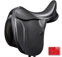 Thorowgood T8 Dressage Saddle Low Wither Black