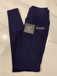 Bare Equestrian Thermo Fit Winter Performance Riding Tights Navy