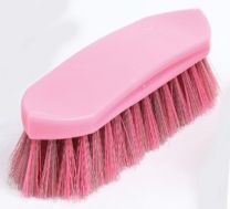 Gymkhana Plastic Back Dandy Brush Small Pink & Grey