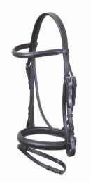 Academy Leather Hanovarian Bridle Black