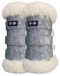 Bling Exercise Boots Silver