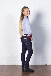 Peter Williams Denim Jodhpurs Navy & Rainbow Childs