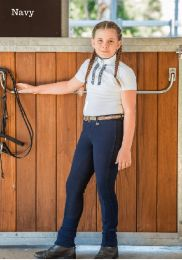 Peter Williams Sticker Jodhpurs Navy Childs