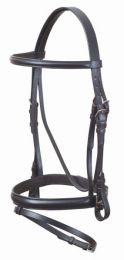 Eurohunter Leather Hanovarian Bridle Black