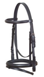 Eurohunter Leather Dressage Bridle Black