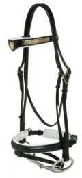 Jeremy & Lord Leather Hanovarian Transition Bridle Black